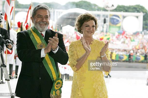 President Luiz Inacio Lula da Silva and first Lady Marisa Letizia