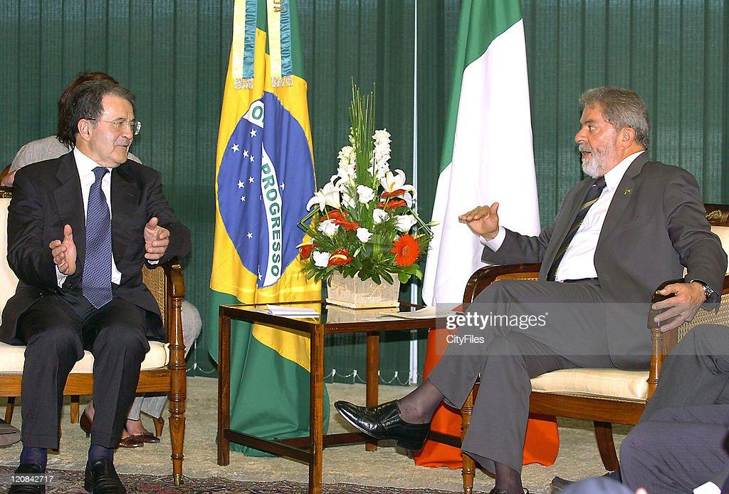 Romano Prodi on State visit to Brazil - March 28, 2007