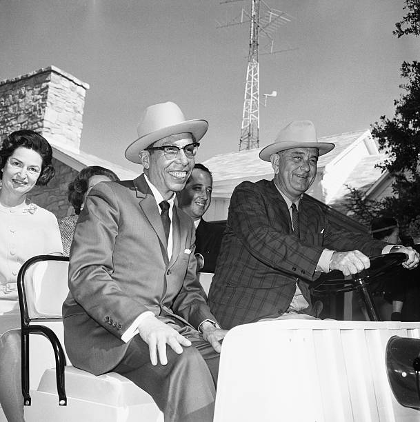 President johnson and gustav ordaz riding in a golf cart pictures president johnson and gustav ordaz riding in a golf cart publicscrutiny Image collections