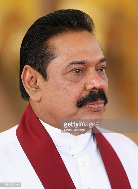 President Mahinda Rajapaksa of Sri Lanka ahead of the Commonwealth Heads of Government 2013 Opening Ceremony on November 15, 2013 in Colombo, Sri...
