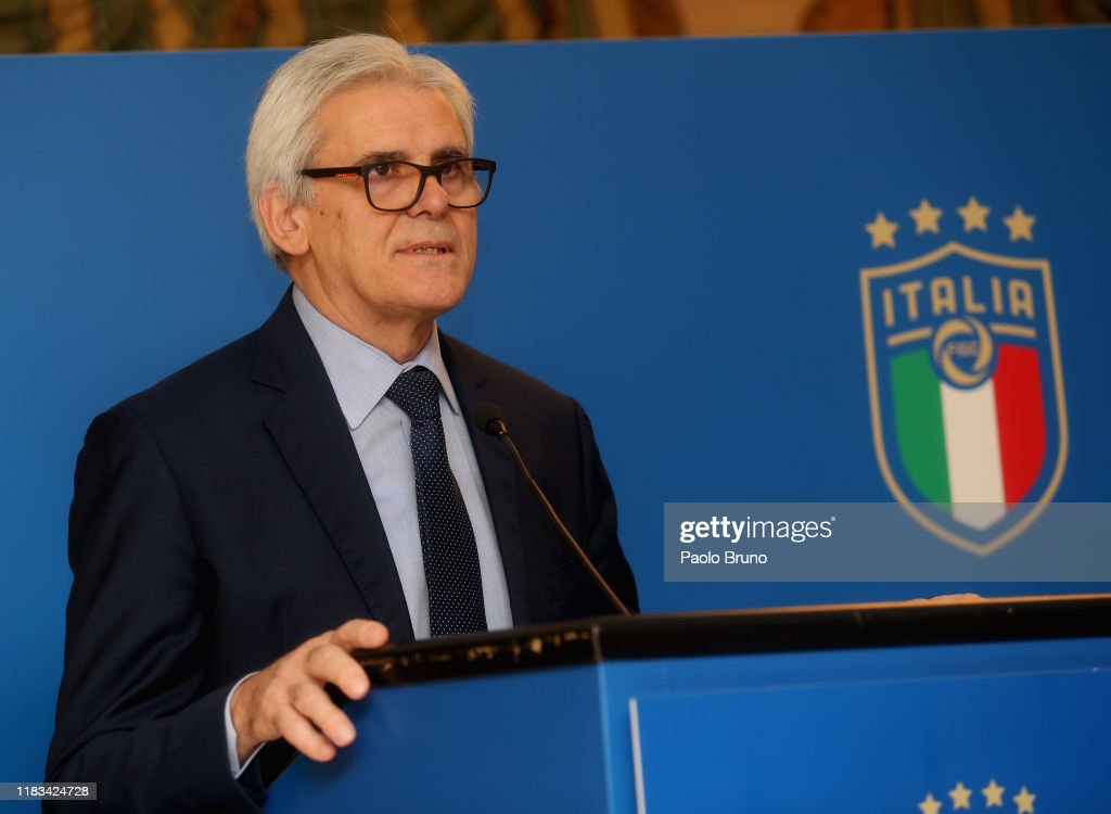 FIGC and AIA Press Conference : News Photo