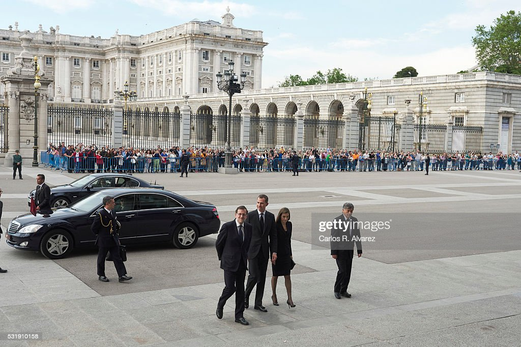 Spanish Royals Attend a Tribute Mass For Earthquakes Victims of Ecuador : News Photo