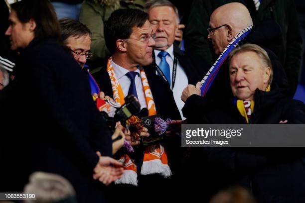President Mark Rutte of Holland, Michael van Praag during the UEFA Nations league match between Germany v Holland at the Veltins Arena on November...