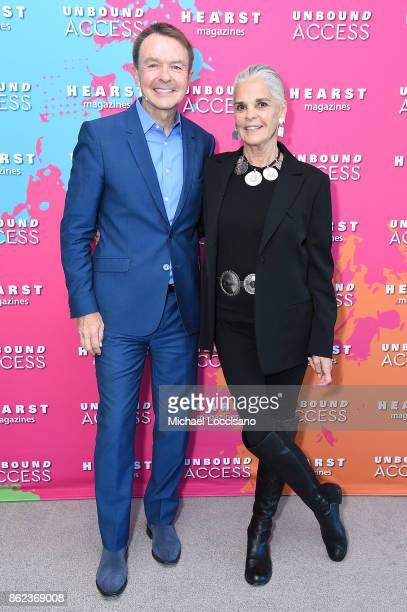 President Marketing and Publishing Director Heart Magazines Michael A Clinton and Ali Macgraw attend Hearst Magazines' Unbound Access MagFront at...