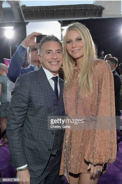 President Marketing The Walt Disney Studios Ricky Strauss and actor Gwyneth Paltrow attend the Los Angeles Global Premiere for Marvel Studios'...