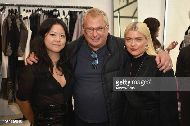 President Marty Staff and Kate Young attend the celebration of the BCBGMAXAZRIA SoHo store opening with Kate Young Bernd Kroeber and InStyle on...