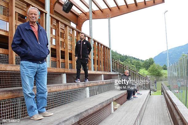 President Maurizio Zamparini looks on at Sportarena, US Citta' di Palermo training camp base on July 15, 2016 in Bad Kleinkirchheim, Austria.