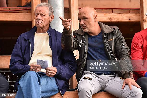 President Maurizio Zamparini of Palermo and Davor Curkovic look on during the friendly match between US Citta' di Palermo and Al Wehda at Sportarena...