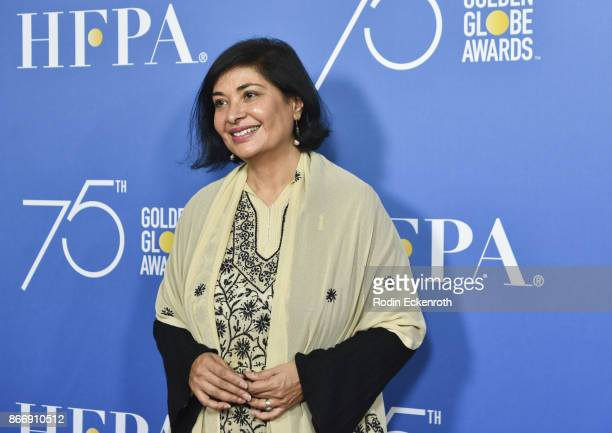 President Meher Tatna attends the Hollywood Foreign Press Association Hosts Television Game Changers Panel Discussion at The Paley Center for Media...