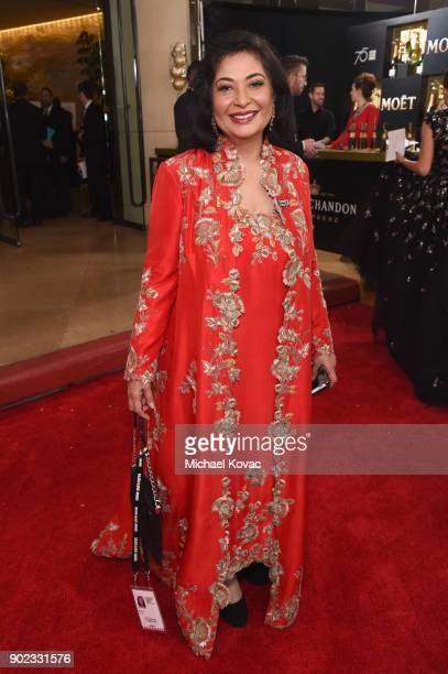 President Meher Tatna celebrates The 75th Annual Golden Globe Awards with Moet Chandon at The Beverly Hilton Hotel on January 7 2018 in Beverly Hills...