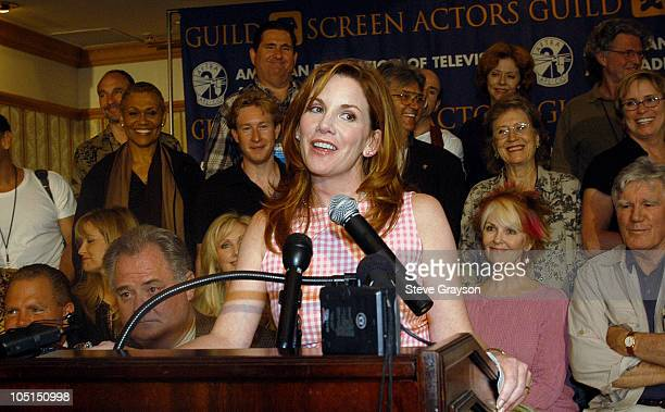 President Melisa Gilbert. During The SAG/AFTRA Consolidation Vote at Radisson Wilshire Plaza Hotel in Los Angeles, California, United States.