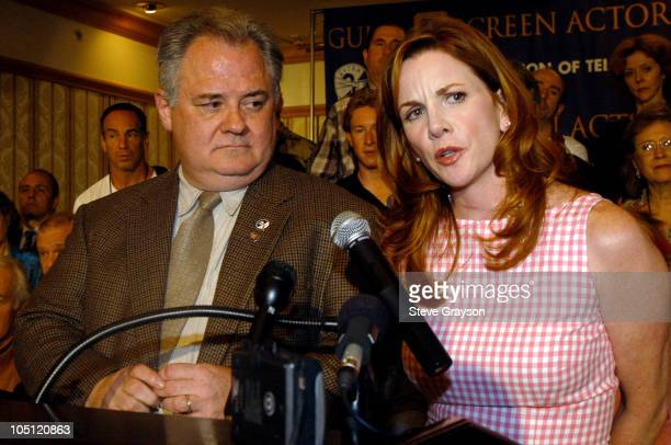 President Melissa Gilbert and AFTRA President John Connolly