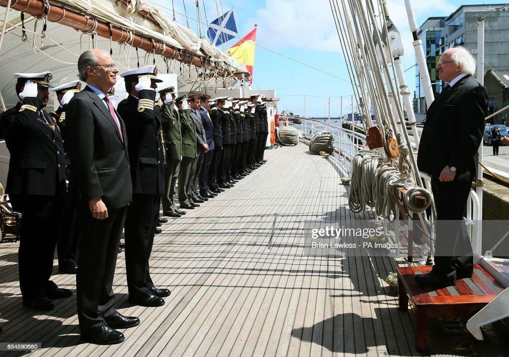 Juan Sebastian de Elcano in Dublin : News Photo