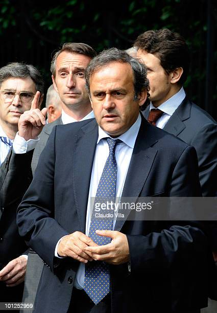 President Michel Platini during the Heysel commemorative ceremony on May 29 2010 in Turin Italy The ceremony remembers the disaster 25 years ago at...