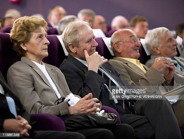 UEFA president Michel Platini's father Aldo and his wife attend on June 11 2011 a general assembly of the Lorraine Football League in Joeuf eastern...