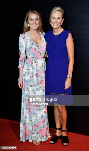 President Micky Lawler and her daughter attend the 2017 China Open Player Party at Beijing Olympic Tower on October 1, 2017 in Beijing, China.