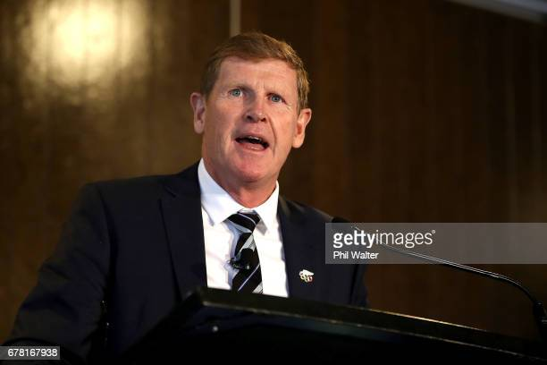 President Mike Stanley during the New Zealand Olympic Committee Annual General Meeting at Eden Park on May 4 2017 in Auckland New Zealand