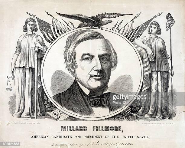 President Millard Fillmore 1856 American candidate for President Baker Godwin