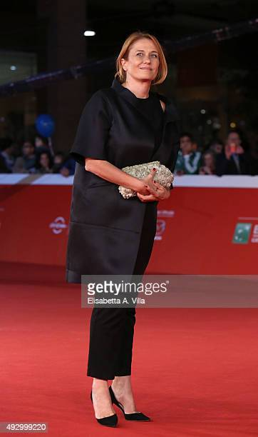 President Monica Maggioni walks the red carpet for 'Truth' during the 10th Rome Film Fest at Auditorium Parco Della Musica on October 16 2015 in Rome...
