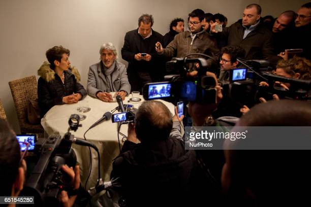President Mostra D'Oltremare Donatella Chiodo and CNA Campania President Giuseppe Oliviero during the conference on 10 March 2017 The occupation of...