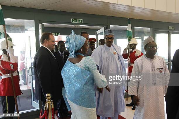 President Muhamadu Buhari seen on arrival at the 48th Ecowas extraordinary meeting of heads of states and Government in Abuja Nigeria 16 Dec 2015