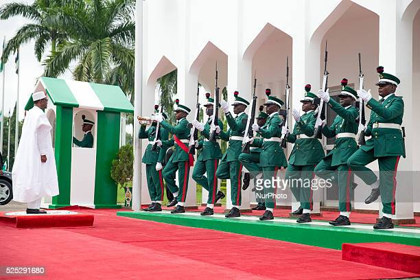 President Muhammadu Buhari Inspects guards during Nigeria's 55th anniversary in Abuja Nigeria on 1st October 2015