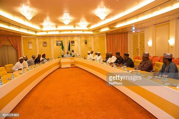 President Muhammadu Buhari receives the leadership of the National assembly Senate President Bukola Saraki Speaker of the House of Representatives...