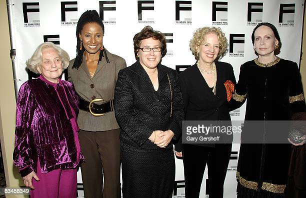 CEO President Muriel Siebert Company Muriel Siebert restaurateur and event emcee Barbara Smith honoree Iris Weinshall executive director the Feminist...