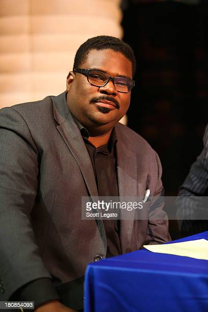 President National Action Network Rev Charles Williams II poses at Charles H Wright Museum of African American History on September 16 2013 in...