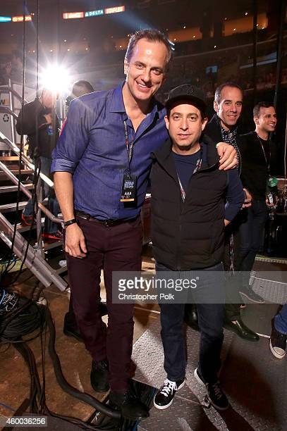 President, National Programming Platforms for Clear Channel Radio Tom Poleman and Republic Records EVP Charlie Walk attend KIIS FM's Jingle Ball 2014...