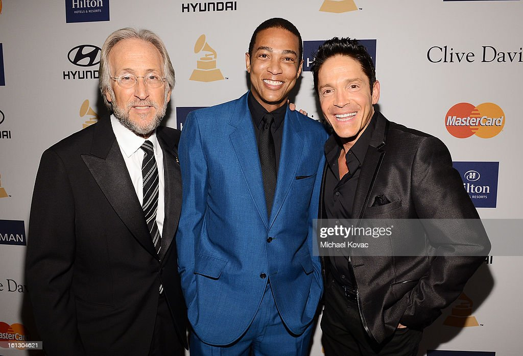 President Neil Portnow, CNN anchor Don Lemon and musician Dave Koz arrive at the 55th Annual GRAMMY Awards Pre-GRAMMY Gala and Salute to Industry Icons honoring L.A. Reid held at The Beverly Hilton on February 9, 2013 in Los Angeles, California.