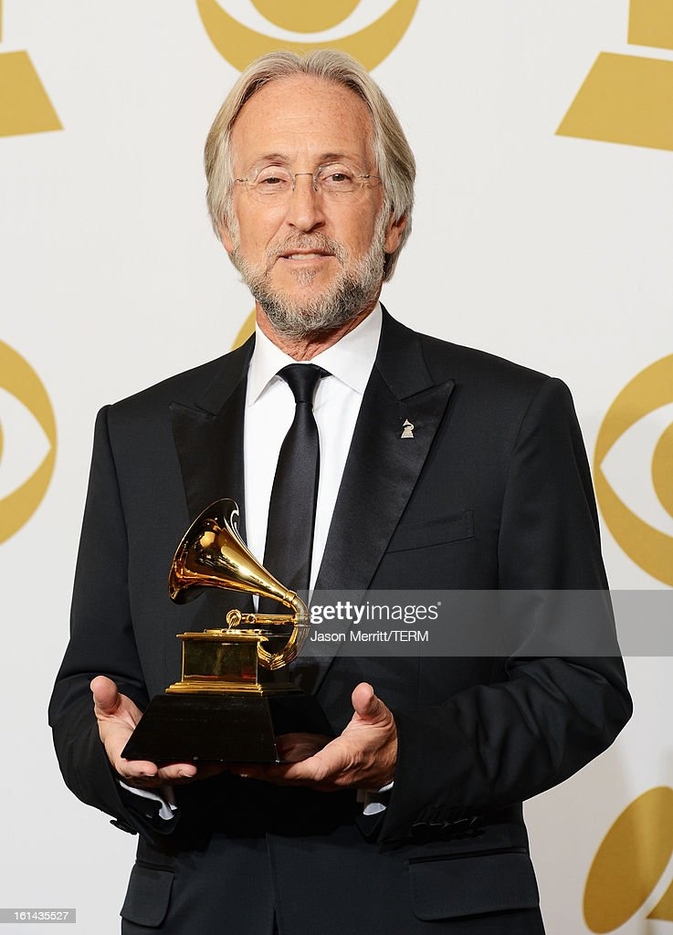 President Neil Portnow poses in the press room at the 55th Annual GRAMMY Awards at Staples Center on February 10, 2013 in Los Angeles, California.