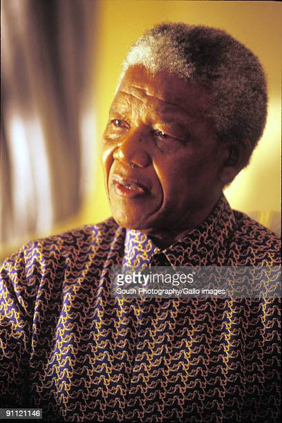 President Nelson Mandela at his home in Houghton Goverment public figures famous people ANC African National Congress