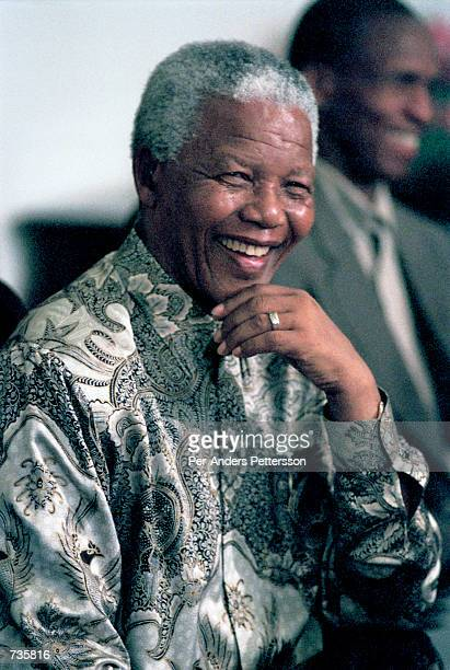 President Nelson Mandela the former president of South Africa on March 8 1999 in his residence in Houghton Johannesburg He was elected president in...