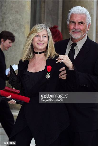 President Nicolas Sarkozy Awards The 'Legion D'Honneur' To Barbra Streisand At The Elysee Palace In Paris France On June 28 2007 Barbra Streisand and...