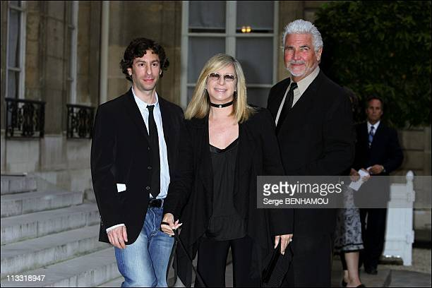 President Nicolas Sarkozy Awards The 'Legion D'Honneur' To Barbra Streisand At The Elysee Palace In Paris France On June 28 2007 Barbra Streisand...