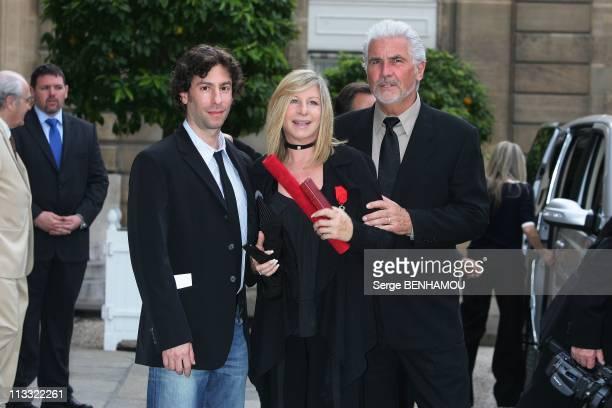 President Nicolas Sarkozy Awards The 'Legion D'Honneur' To Barbra Streisand At The Elysee Palace In Paris France On June 28 2007 Barbra Streisand...