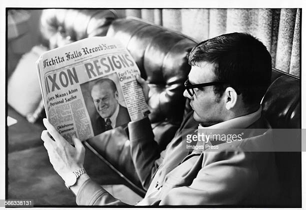 President Nixon resignation in the News circa 1974