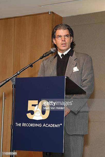 President NY branch Steve Sterling speaks at the New York Chapter of NARAS Open House Reception at New York Chapter Office on September 23 2008 in...