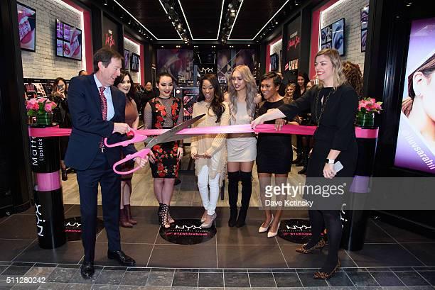 President NYX Scott Friedman CiaooBelllaxo Amanda Ensing Kennedy knight Amy Pham Shameless Maya Denise Sanchez and SVP Global Marketing NYX Nathalie...
