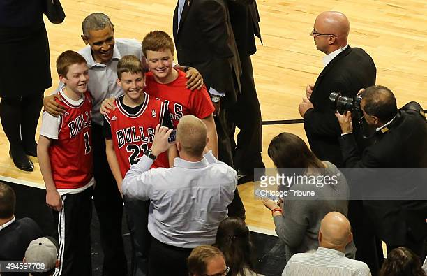 President Obama attends as the Chicago Bulls plays host to the Cleveland Cavaliers at the United Center in Chicago on Tuesday Oct 27 2015