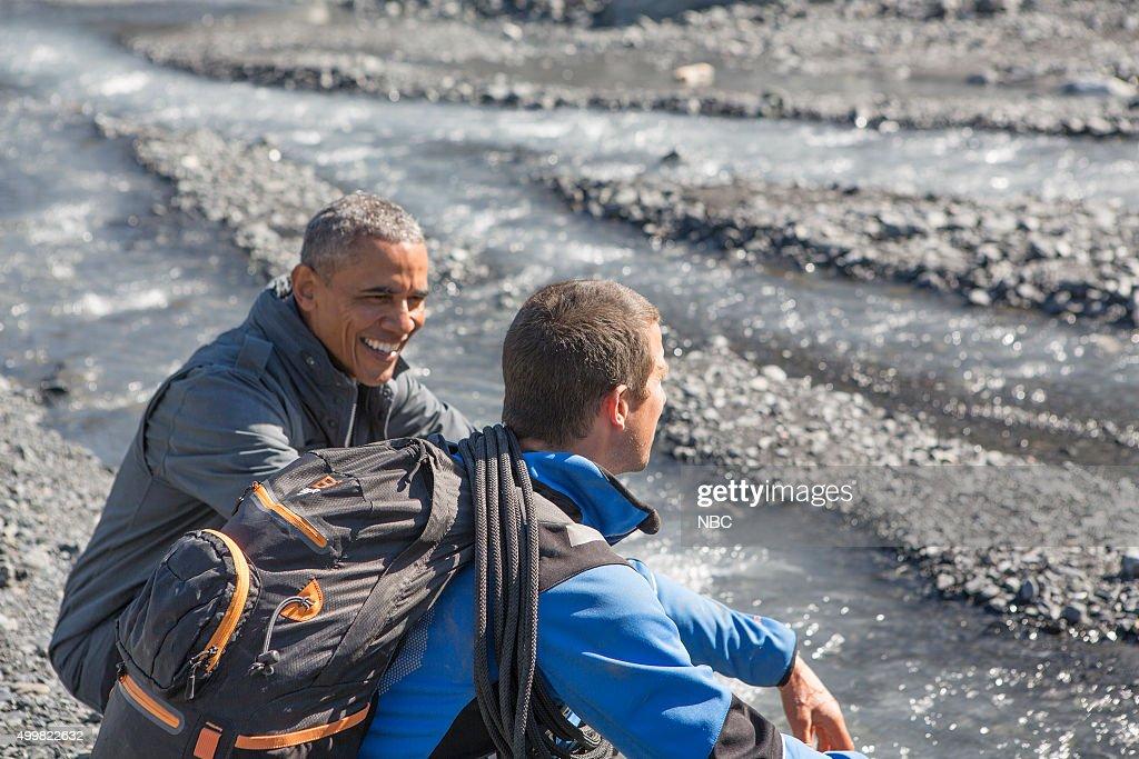 GRYLLS -- 'President Obama' Episode 209 -- Pictured: (l-r) President Barack Obama, Bear Grylls --