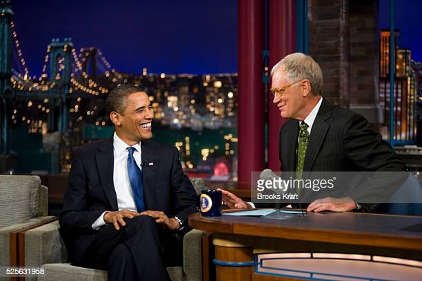 President Obama on the Late Show with David Letterman