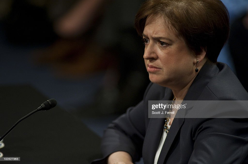 President Obama's U.S. Supreme Court nominee Elena Kagan testifies during her Senate Judiciary nomination hearing.