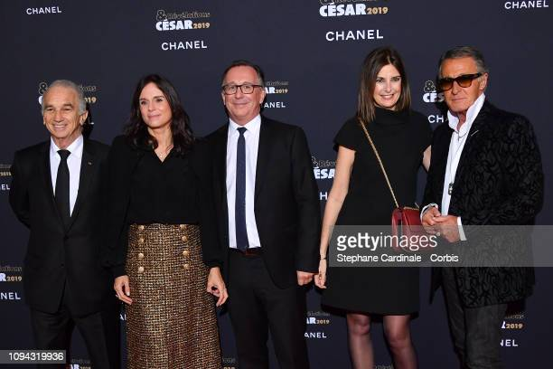 President of Academy des Cesar Alain Terzian President of Fashion Activities at Chanel Bruno Pavlovsky with his wife Nathalie Pavlovsky a guest and...
