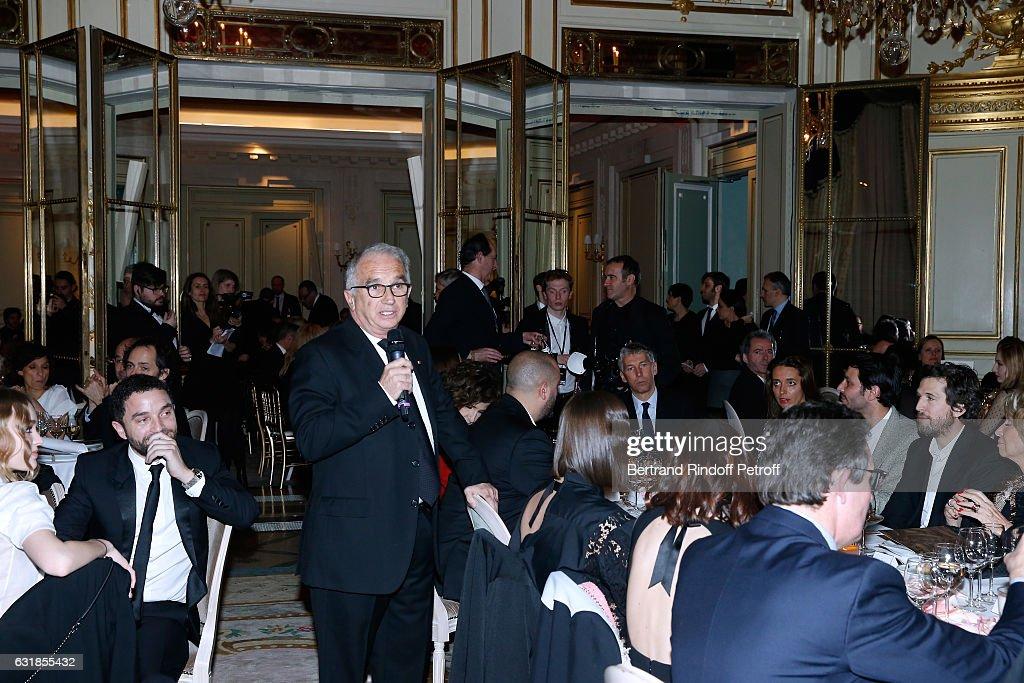 President of Academy des Cesars Alain Terzian attends the 'Cesar - Revelations 2017' Dinner at Hotel Meurice on January 16, 2017 in Paris, France.