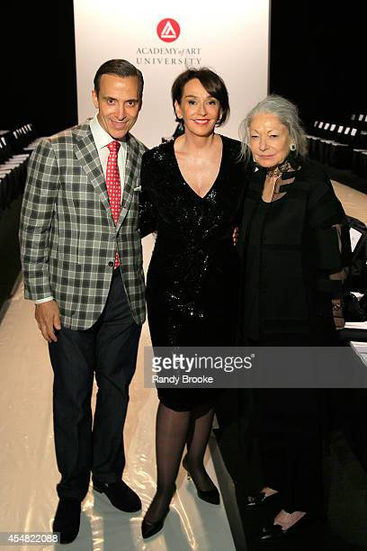 President of Academy of Art University Dr Elisa Stephens and Denise Hale attend the Academy Of Art University Spring 2015 Collections during...