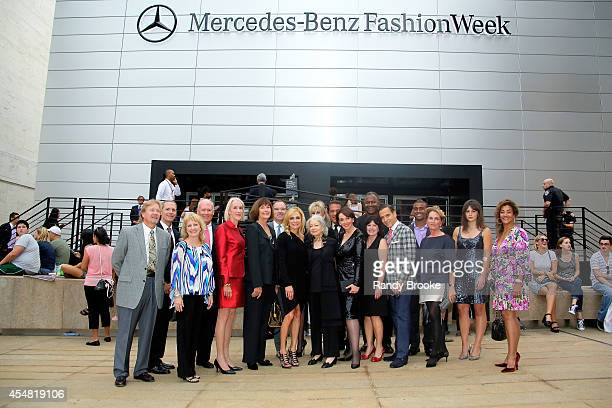 President of Academy of Art University Dr Elisa Stephens and friends attend the Academy Of Art University Spring 2015 Collections during MercedesBenz...