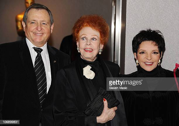 President of Academy of Motion Picture Arts and Sciences Tom Sherak actress Arlene Dahl and actress Liza Minnelli attend the ribbon cutting ceremony...