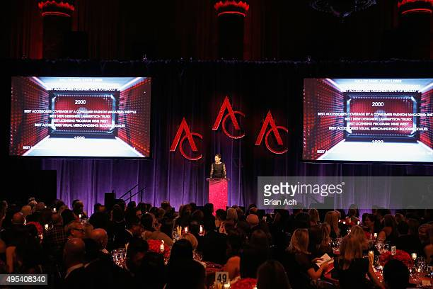 President of Accessories Council Karen Giberson speaks onstage at 19th Annual Accessories Council ACE Awards on November 2 2015 in New York City